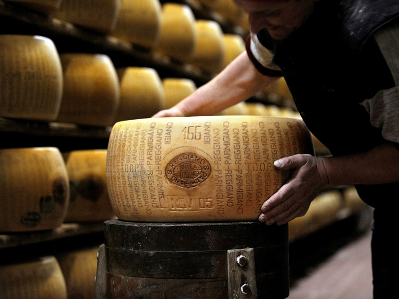 Image: ITALY-BANKING-CHEESE-OFFBEAT